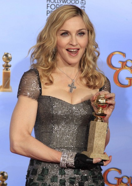 Madonna bei der Pressekonferenz bei den Golden Globes