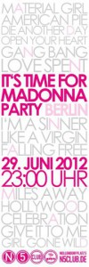 Flyer Madonna-Party Berlin